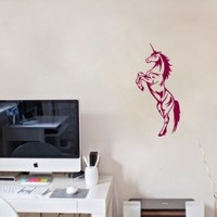 Wall Vinyl Sticker Decal Art Design Unicorn Room Cafe Kitchen Nice Picture Decor Hall Wall Chu283