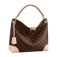 Louis Vuitton Monogram Canvas Tote Berri PM Handbag Article: M41623 Made in France