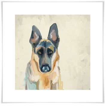 Best Friend - German Shepherd Wall Art