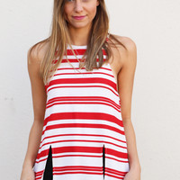 Sweet Candy Striped Tank