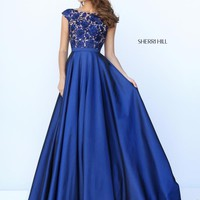 Sherri Hill Long Beaded Dress 50346