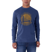 Golden State Warriors '47 Brand Current Logo Flanker Long Sleeve T-Shirt - Royal Blue