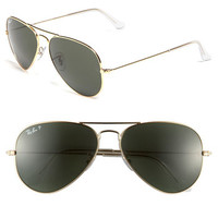 Ray-Ban 58mm Original Aviator Polarized Sunglasses