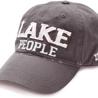 Lake People - Unisex Adjustable Embroidered Baseball Cap - Dark Gray