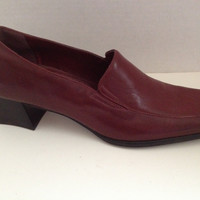 Naturalizer Shoes Womens Size 8.5 M Heels Maroon Leather 8 1/2