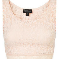 Lace Crop Top - Jersey Tops - Clothing - Topshop