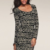 Printed Scoopneck Tee Dress