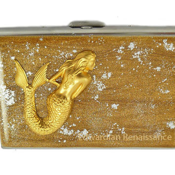 Metal Accordion Wallet Mermaid Nautical by EdwardianRenaissance