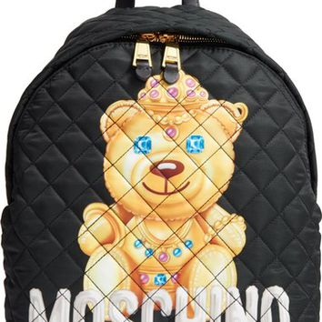 Moschino Teddy Bear Quilted Backpack | Nordstrom