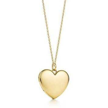 Tiffany & Co. -  Heart locket pendant in 18k gold, large.
