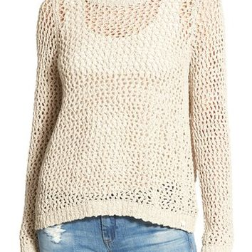 Rip Curl 'Looking Back' Mesh Knit Pullover | Nordstrom