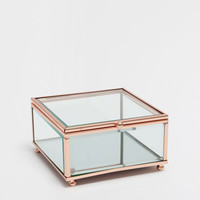 Glass and metal box with a mirrored base - BOXES - DECORATION | Zara Home United Kingdom