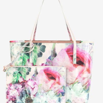 Pure peony shopper bag - Shell | Bags | Ted Baker UK