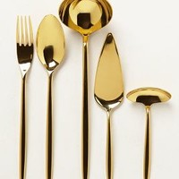 Doma Serving Set by Anthropologie Gold Set Of 5 Serveware