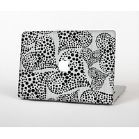 The Black and White Spotted Hearts Skin for the Apple MacBook Air 13""