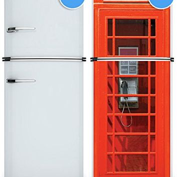 "Door Wall Fridge LAMINATED STICKER or not sticky PAPER London Telephone Box Phone booth poster 30x80""(77x203 cm) (Paper)"