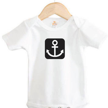 Nautical Baby Onesuit // Anchor Onesuit // boating Onesuit // newborn clothing
