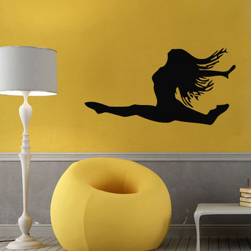 Wall Decals Vinyl Decal Sticker Art Murals Gym Decor Girl Dancer Gymnast Kj735