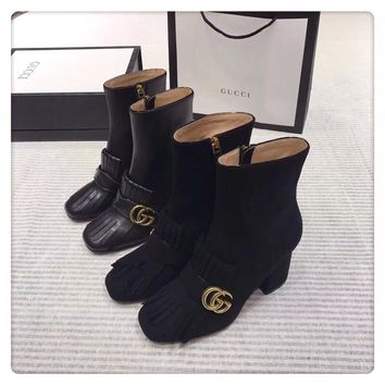 Gucci 2018 autumn winter new high-end version of calfskin fabric and imported abrasive inner calfskin
