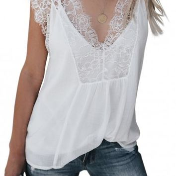 Amelia Lace Overlay Cami Top