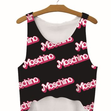 Moschino print vest top blouse shirt