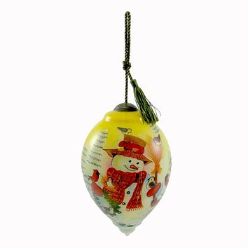 Precious Moments Feathered Friends Glass Ornament