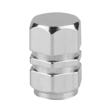 New 4pcs Silver color Theftproof Aluminum Car Wheel Tire Valves Tyre Stem Air Caps Airtight Cover silver color
