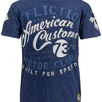 Affliction American Customs Black Aces T-Shirt