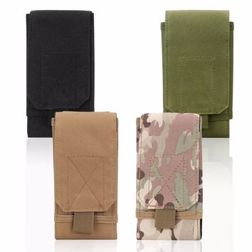 Outdoor CS Holster Equipment Bag 16*10*3cm Waist Bag Molle Bag Portable Phone Bag Wear Resistant Oxford Cloth Bag