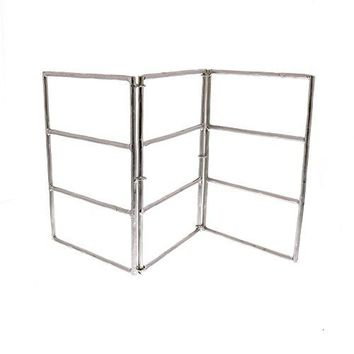 Silver Nickel Chrome Metal Earring Stand Display| Folding Jewelry Holder