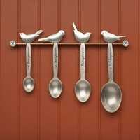 bird measuring spoons by beehivekitchenware on Etsy