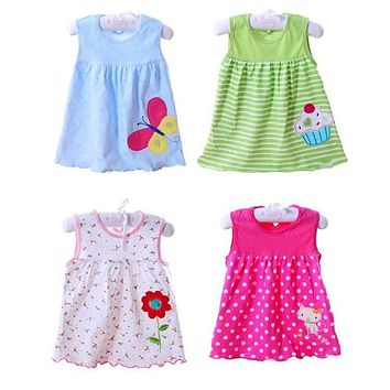 Free shipping 10pcs/lot New Girls Dress with Many Patterns Baby's Dresses for Summer Kids Summer Clothing Casual