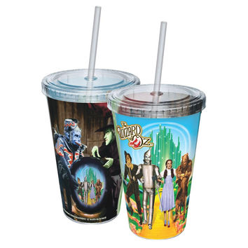 Wizard of Oz - Yellow Brick Road Acrylic Tumbler With Straw