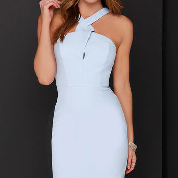 Keepsake New Bloom Light Blue Midi Dress