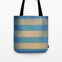 Vintage striped deck chair cover Tote Bag by steveball