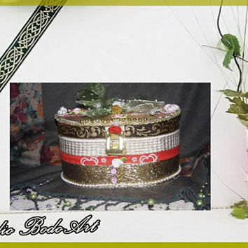 """Daughter gift box""""Romantic Touch"""". Chic jewelry box. Best proposal box. Gift box for girls. Gift for my girl. Mom gift. Engagement gift box."""