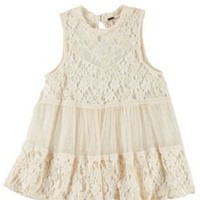 Poof Juniors Paneled Lace Babydoll Top | Bealls Florida