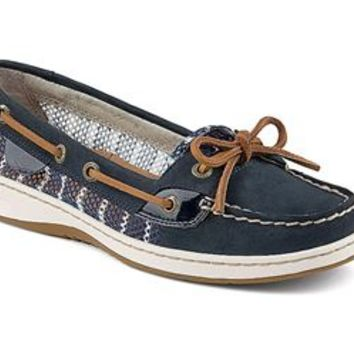 Sperry Top-Sider Womens Angelfish Navy Breton Stripe Mesh Boat Shoes STS91252