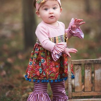 2018 Fall Haute Baby Gypsy Autumn Infant & Toddler Swing Set