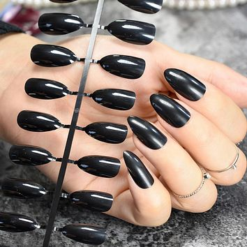 CLASSIC STILETTO Pointed Faux Nails 24 piece