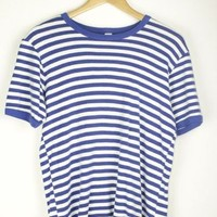 Blue and White 70s Tee | M