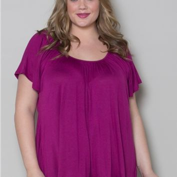 Plus Size Tops | Pretty Flutter Top | Swakdesigns.com