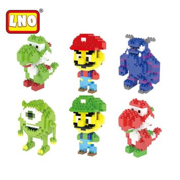 LNO Gift Series Nano Blocks Super Mario Action & Toy Figures Assembly Building Brick Educational Game For Kids China Toy Factory