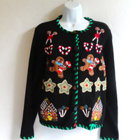 Tacky Christmas Sweater by Lemon Grass Petite Large