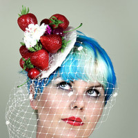 Strawberry Cupcake Fascinator