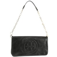 Tory Burch Bombe Reva Leather Clutch & Shoulder Bag