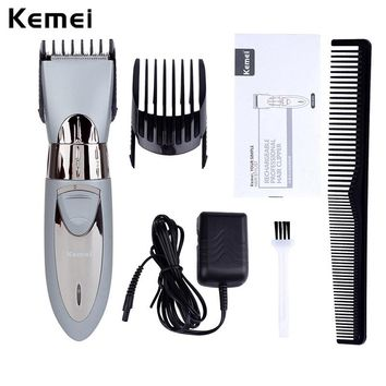 200-240V Waterproof Kemei Electric Hair Clipper Razor Men Shaver Hair Trimmer Cutting Machine Rechargeable Haircut Barber Tool