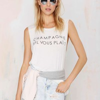Daydreamer Champagne Please Oversized Tank