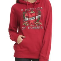 5 Seconds Of Summer Heart Girls Hoodie