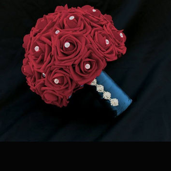 Red Rose Wedding Bouquet Collection